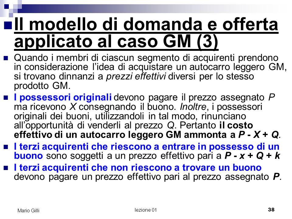 Il modello di domanda e offerta applicato al caso GM (3)
