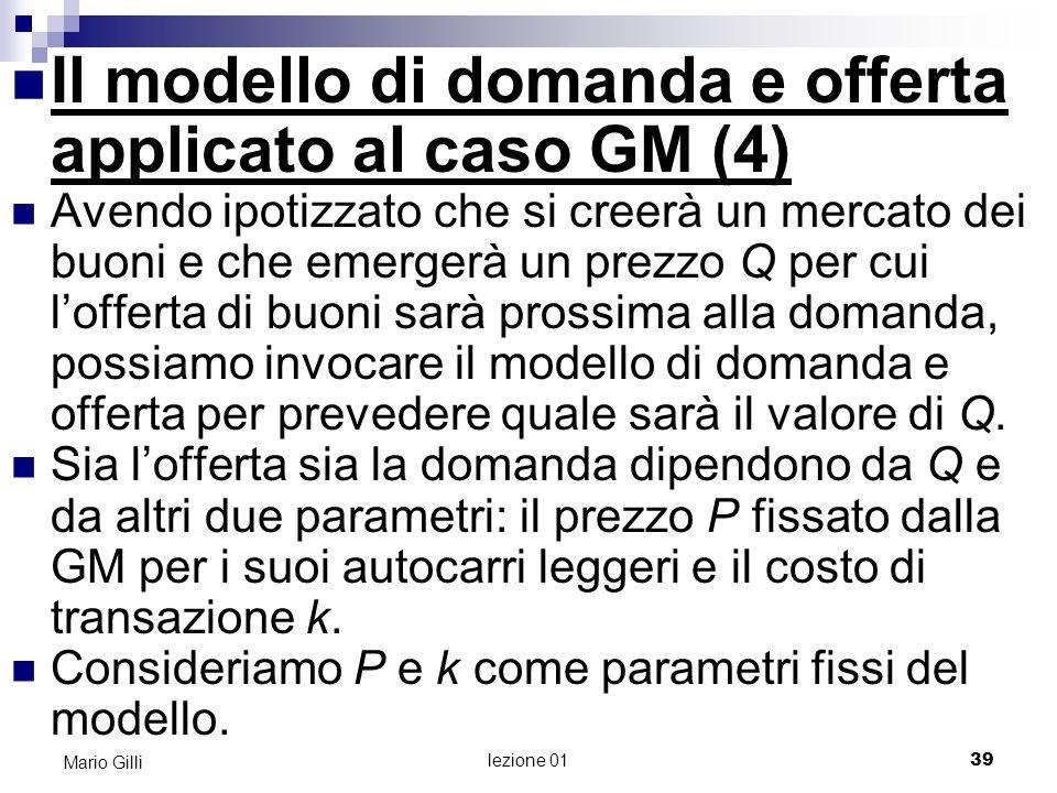 Il modello di domanda e offerta applicato al caso GM (4)