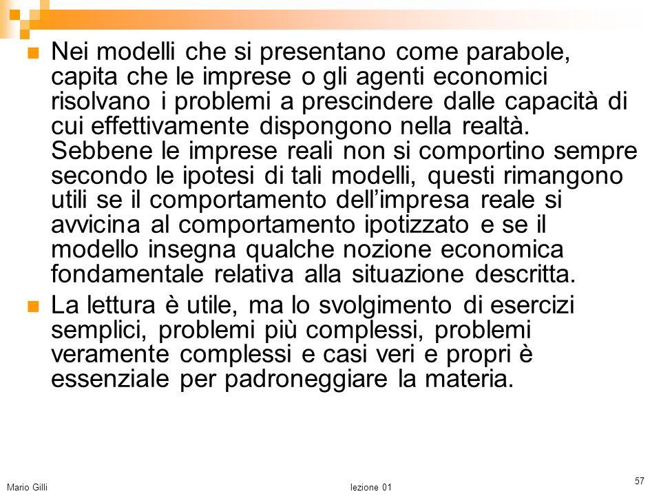 Microeconomia Mario Gilli.