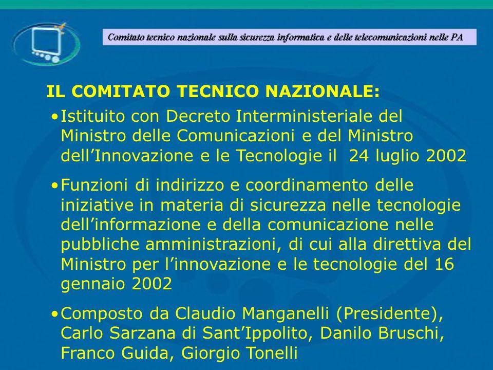 IL COMITATO TECNICO NAZIONALE: