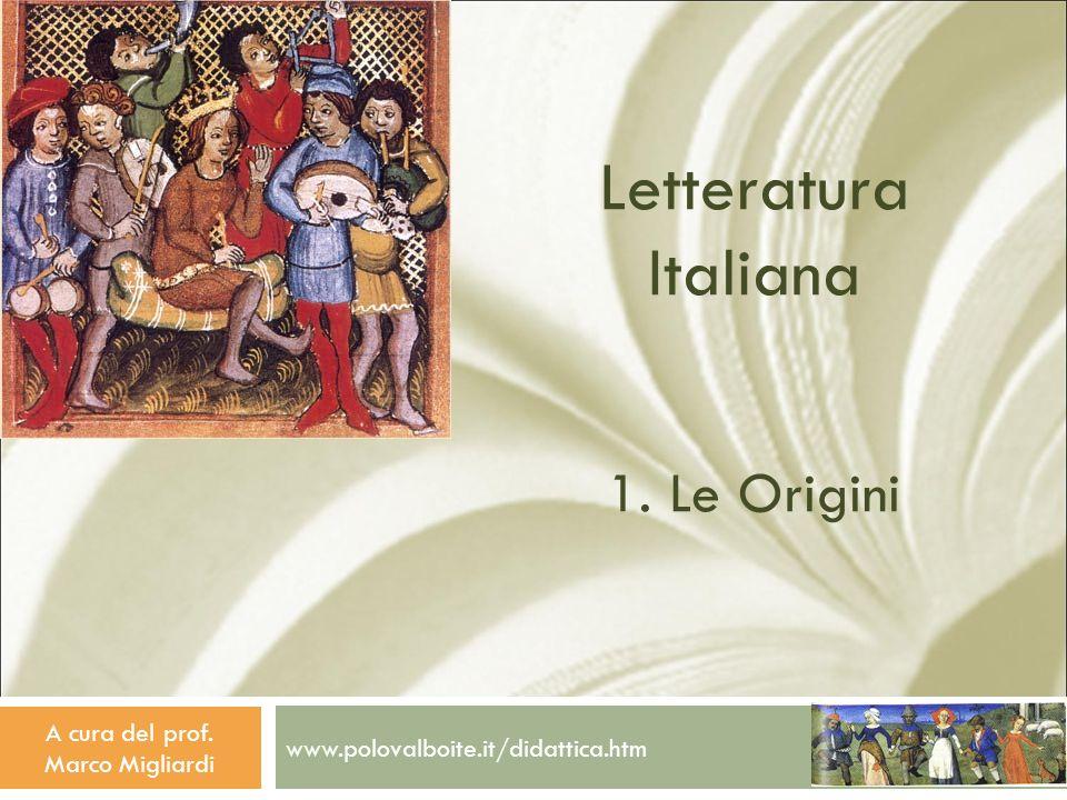 Letteratura Italiana 1. Le Origini