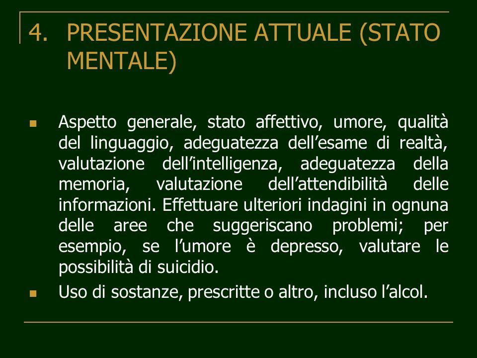 PRESENTAZIONE ATTUALE (STATO MENTALE)