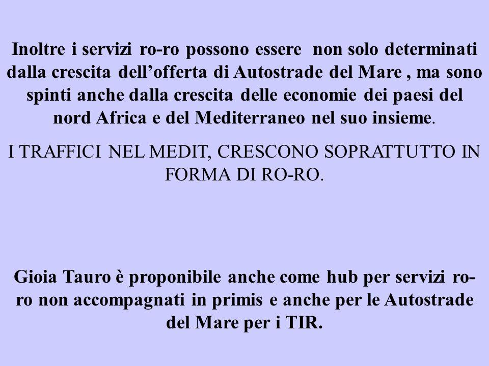 I TRAFFICI NEL MEDIT, CRESCONO SOPRATTUTTO IN FORMA DI RO-RO.