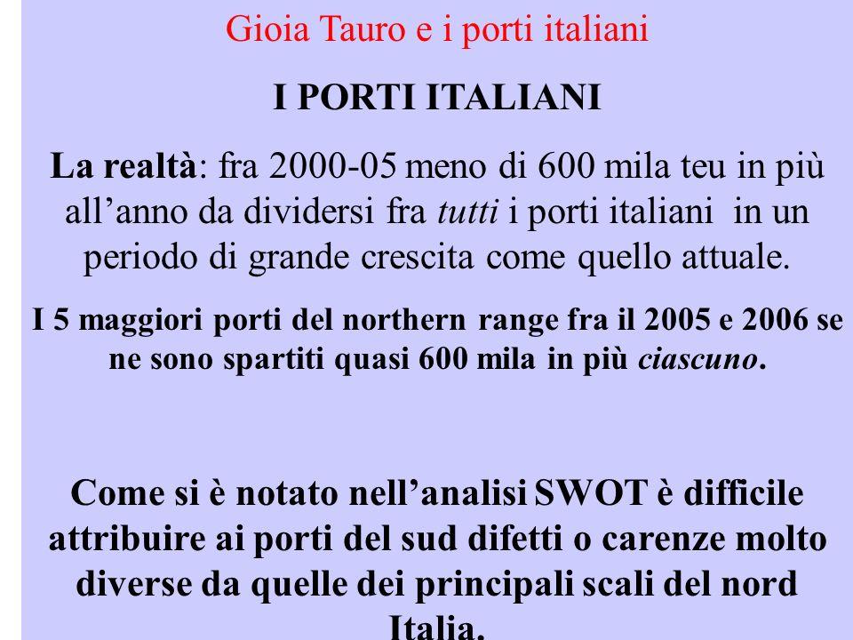 Gioia Tauro e i porti italiani