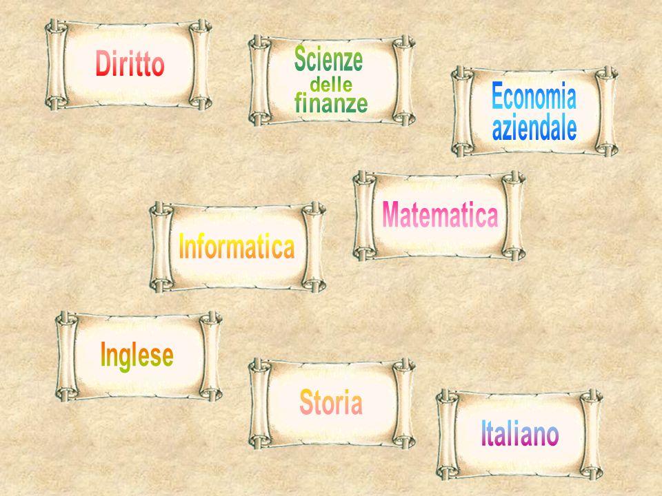 Scienze Diritto delle Economia finanze aziendale Matematica Informatica Inglese Storia Italiano