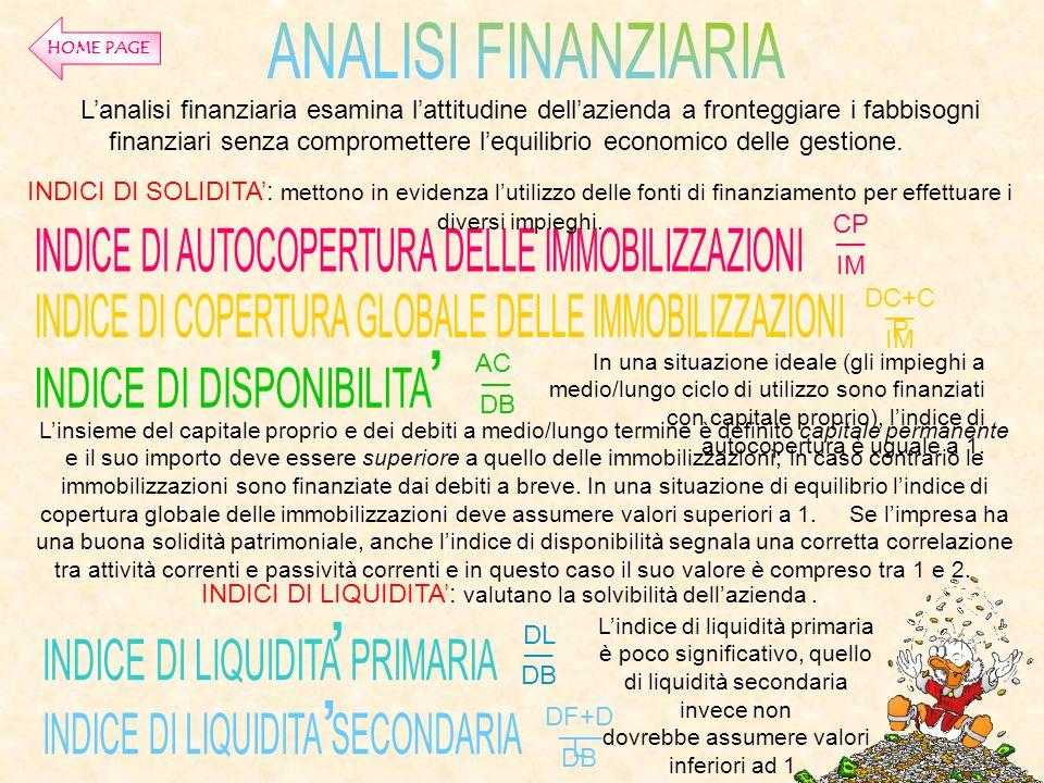INDICE DI AUTOCOPERTURA DELLE IMMOBILIZZAZIONI