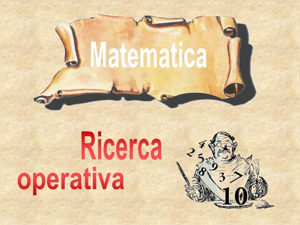 Matematica Ricerca operativa