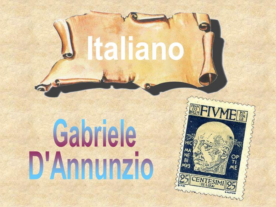 Italiano Gabriele D Annunzio