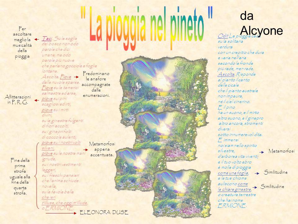 La pioggia nel pineto da Alcyone