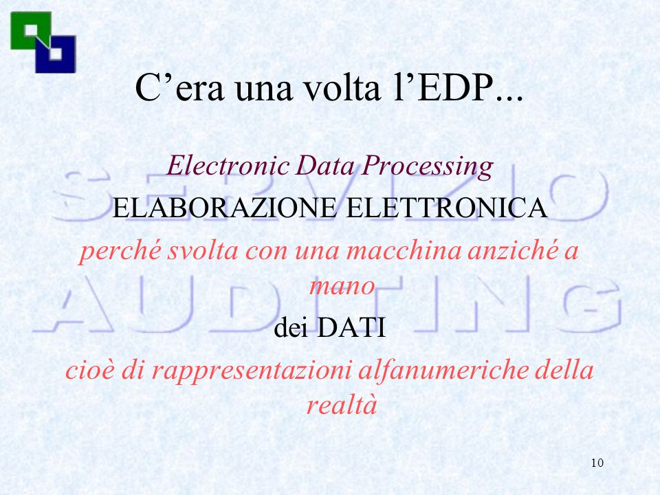 C'era una volta l'EDP... Electronic Data Processing