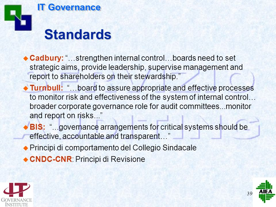 Standards IT Governance