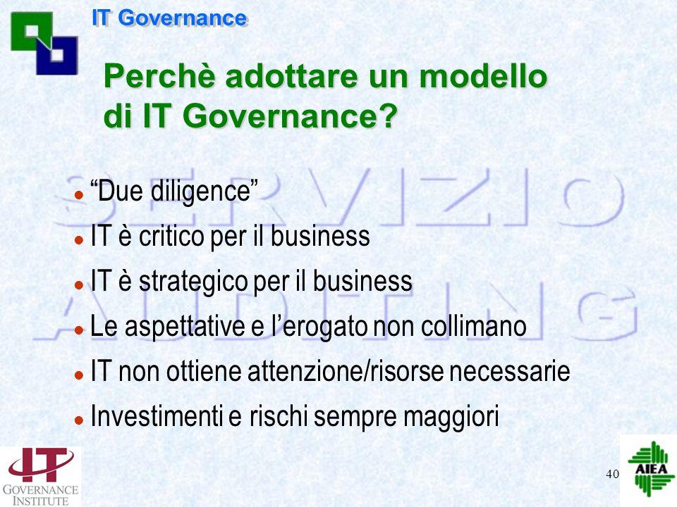 Perchè adottare un modello di IT Governance