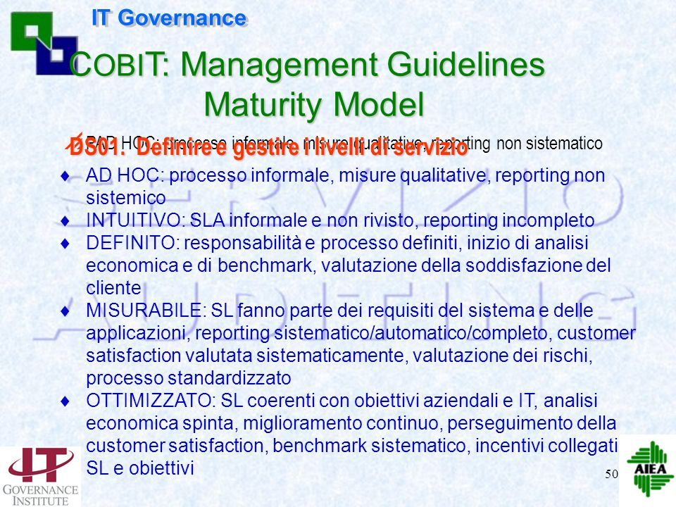 COBIT: Management Guidelines Maturity Model
