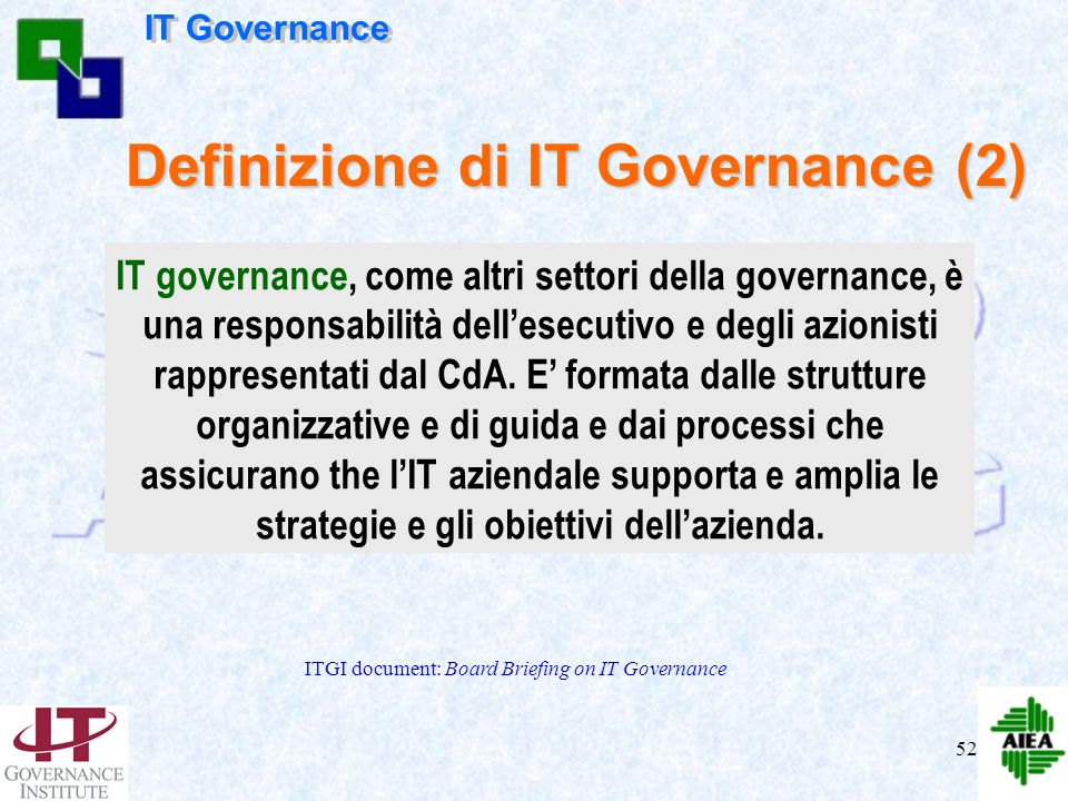 Definizione di IT Governance (2)