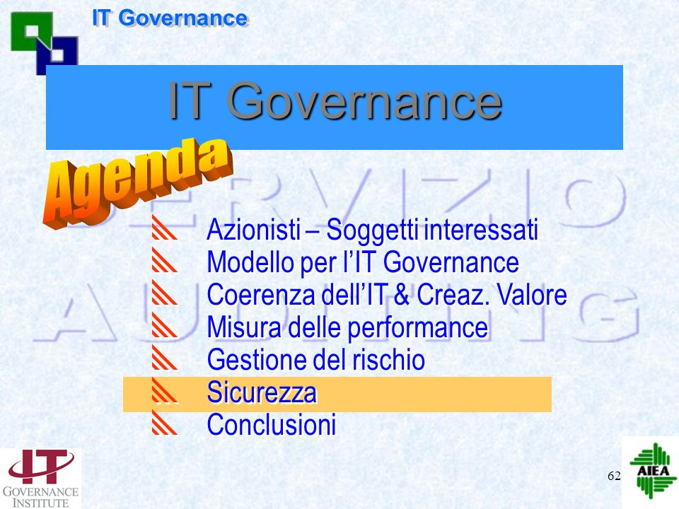 IT Governance Agenda Azionisti – Soggetti interessati