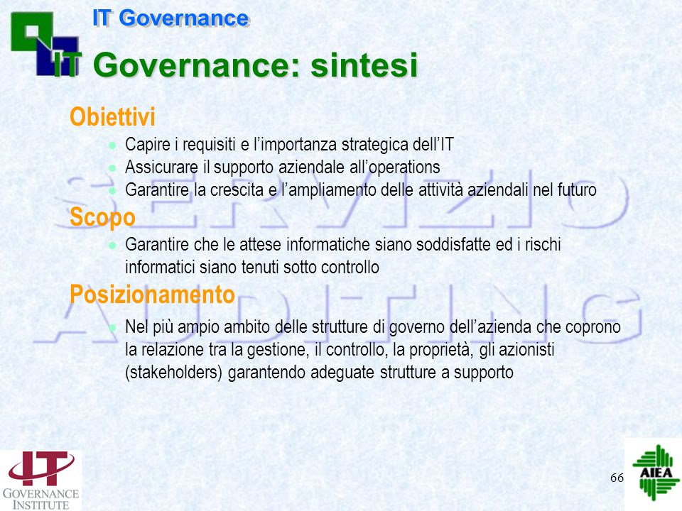 IT Governance: sintesi