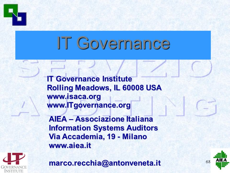 IT Governance IT Governance Institute Rolling Meadows, IL 60008 USA