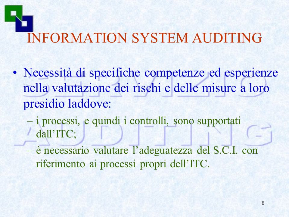 INFORMATION SYSTEM AUDITING