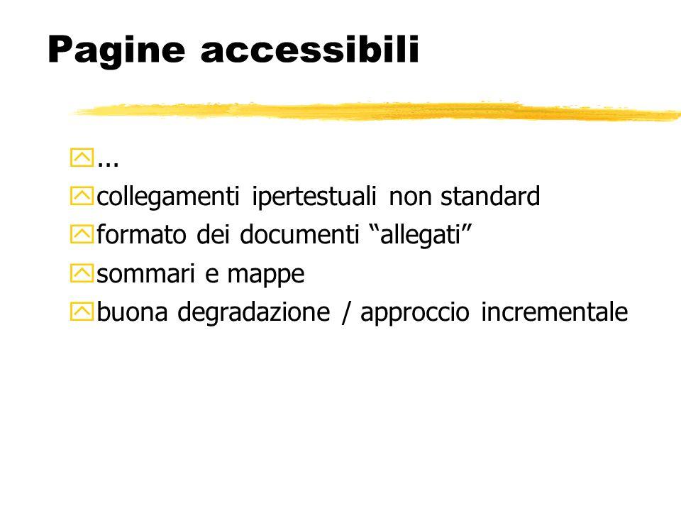 Pagine accessibili ... collegamenti ipertestuali non standard