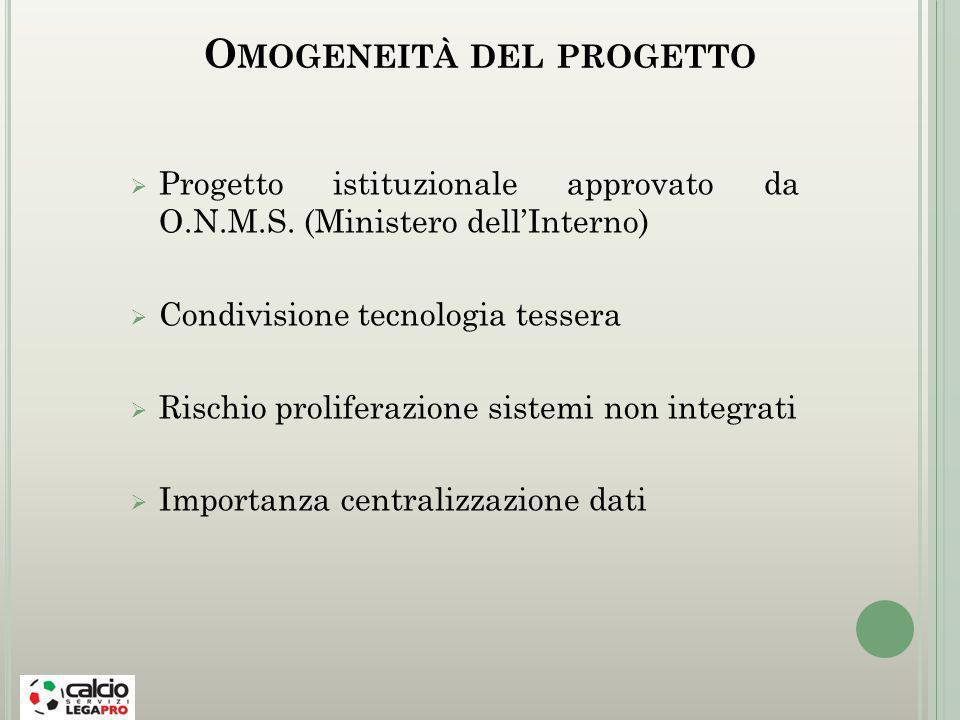 Omogeneità del progetto