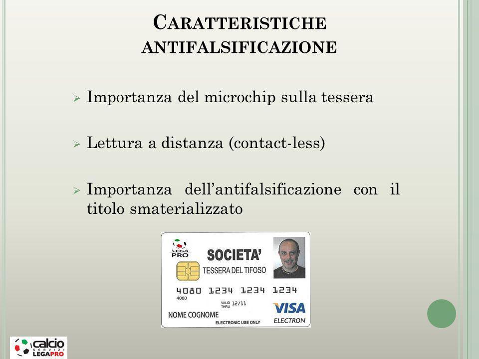 Caratteristiche antifalsificazione