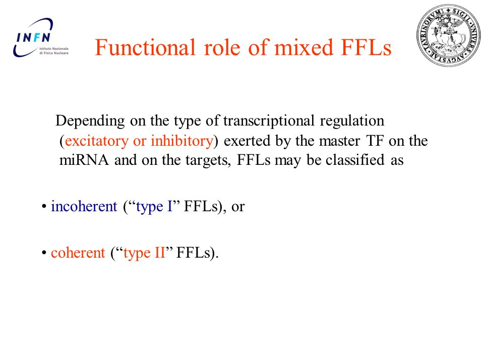 Functional role of mixed FFLs