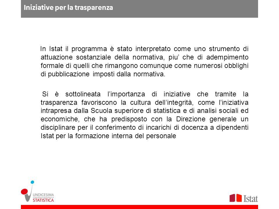 Iniziative per la trasparenza