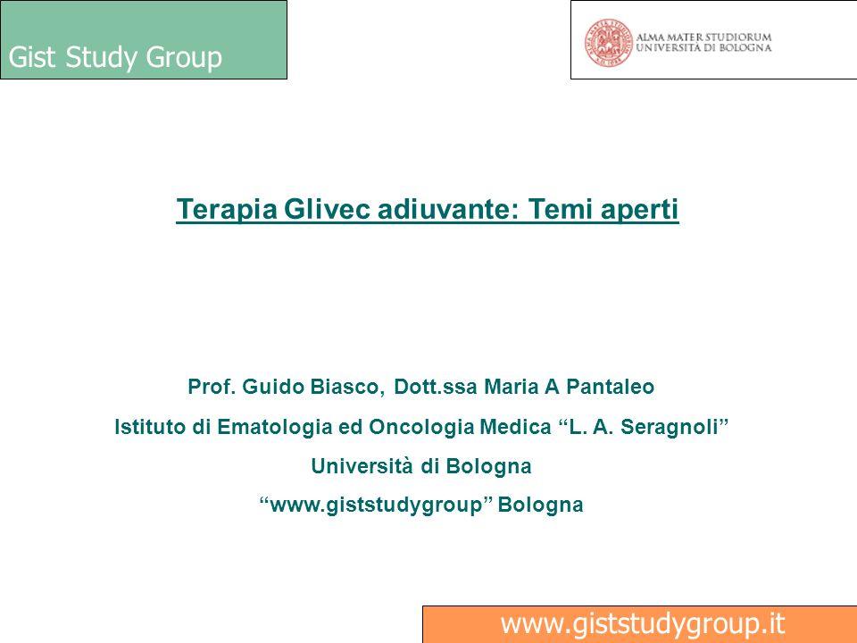 Terapia Glivec adiuvante: Temi aperti