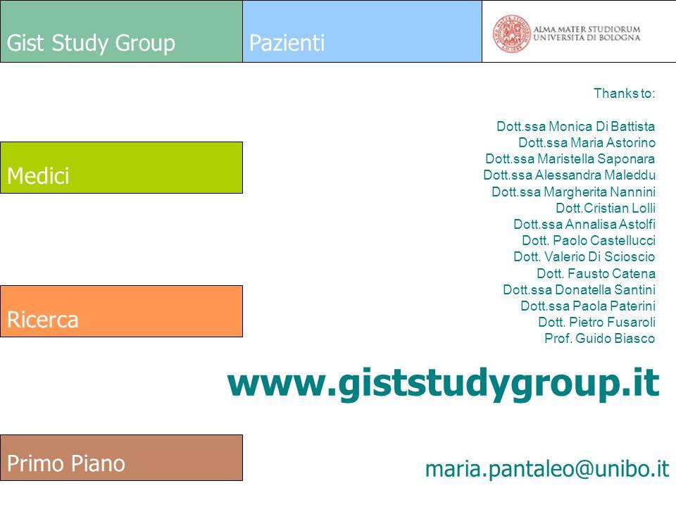 www.giststudygroup.it Gist Study Group Pazienti Medici Ricerca