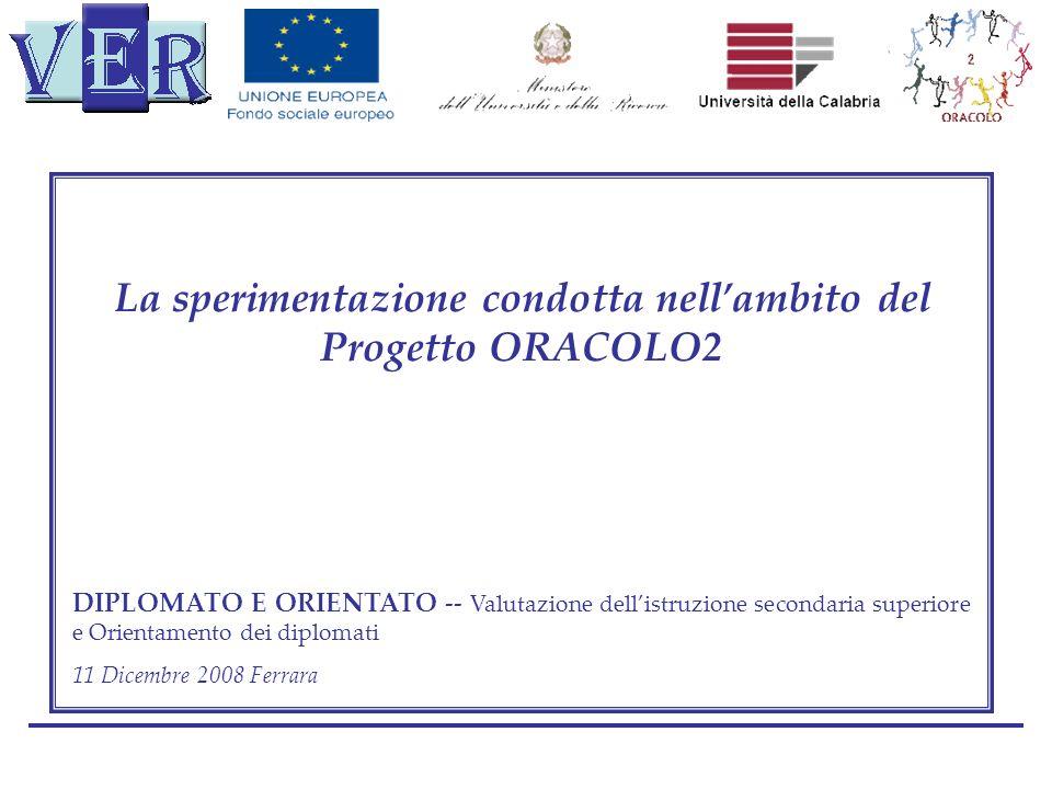 La sperimentazione condotta nell'ambito del Progetto ORACOLO2
