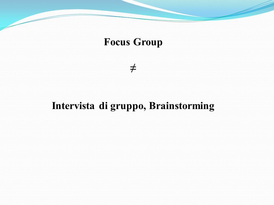 Intervista di gruppo, Brainstorming