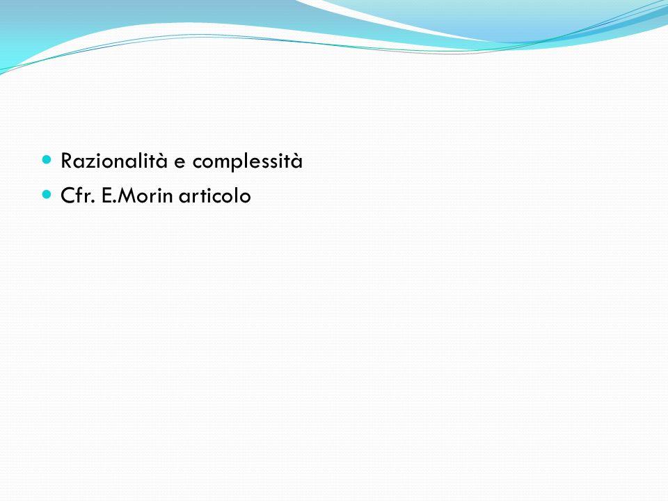 Razionalità e complessità