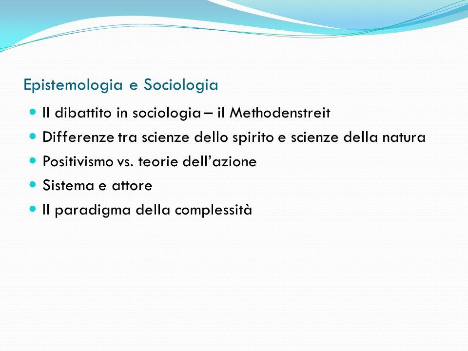 Epistemologia e Sociologia