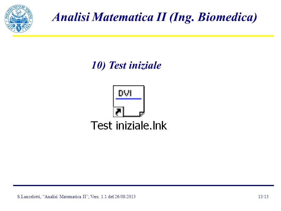 10) Test iniziale