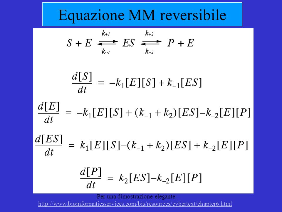 Equazione MM reversibile