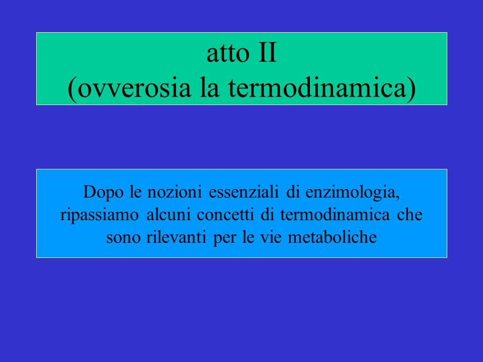 atto II (ovverosia la termodinamica)