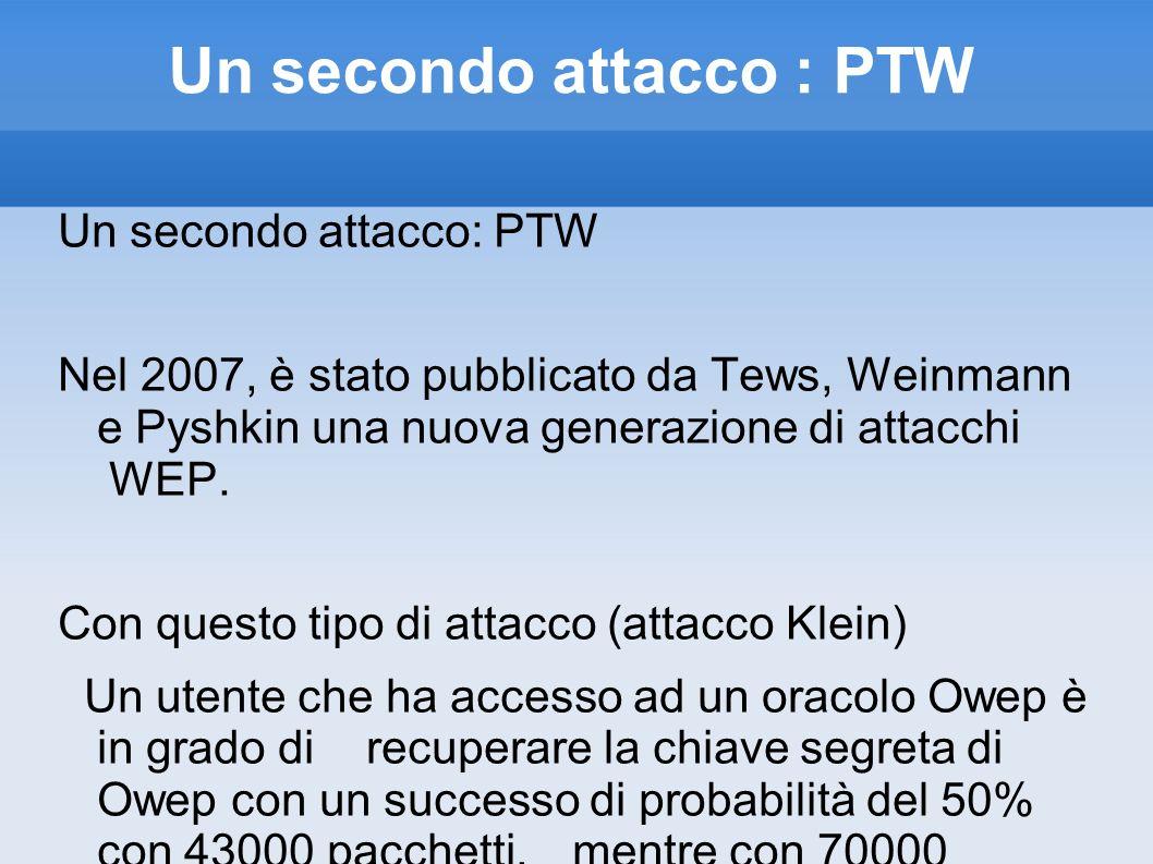 Un secondo attacco : PTW