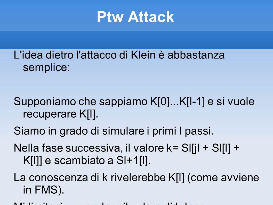 Ptw Attack L idea dietro l attacco di Klein è abbastanza semplice:
