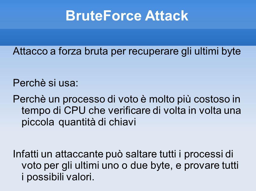 BruteForce Attack Attacco a forza bruta per recuperare gli ultimi byte