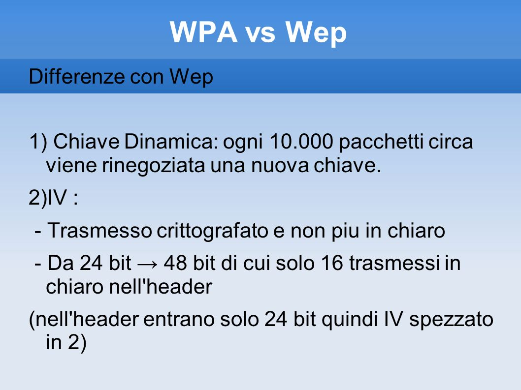 WPA vs Wep Differenze con Wep