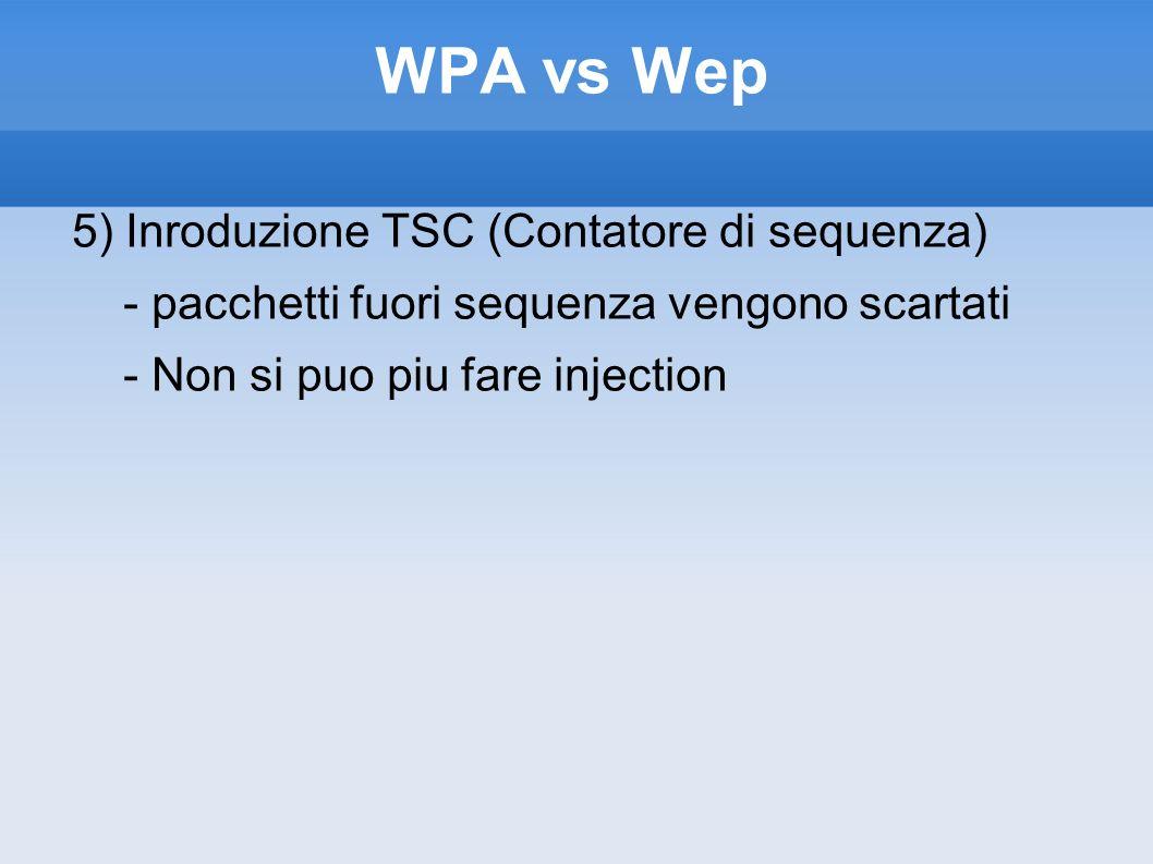 WPA vs Wep 5) Inroduzione TSC (Contatore di sequenza)