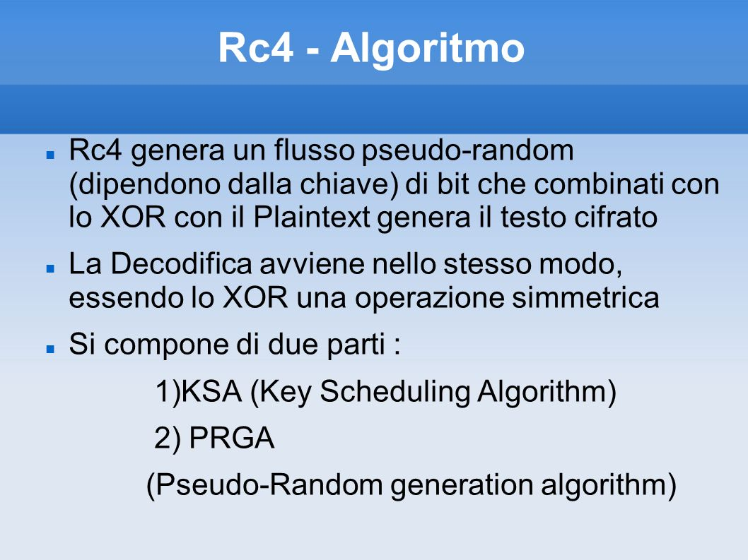 Rc4 - Algoritmo