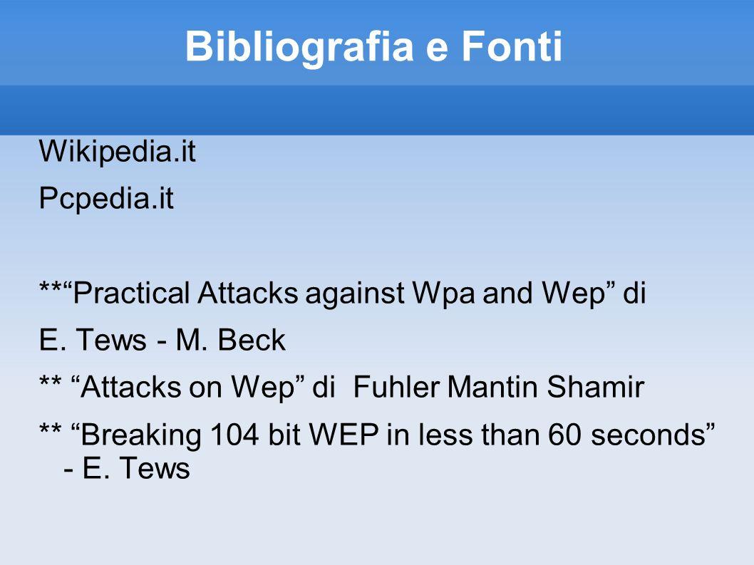 Bibliografia e Fonti Wikipedia.it Pcpedia.it