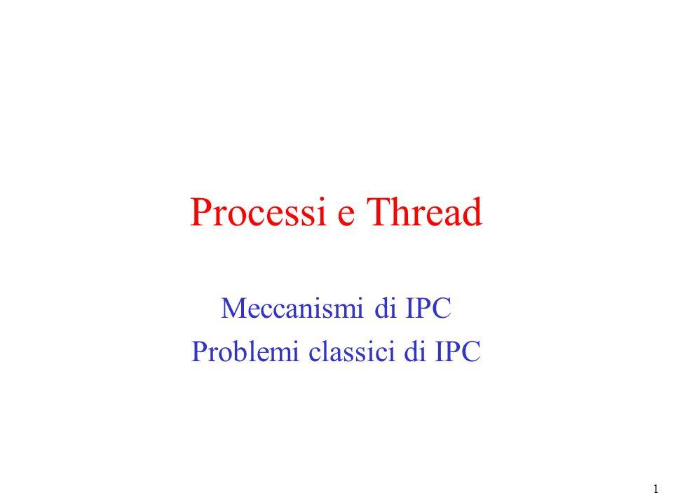 Meccanismi di IPC Problemi classici di IPC