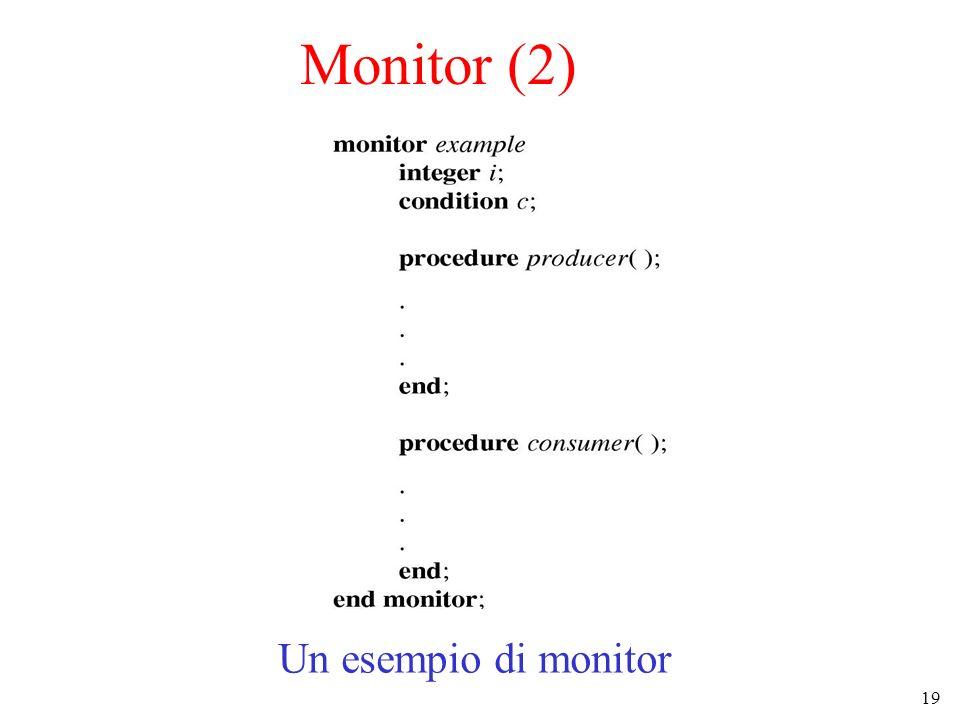 Monitor (2) Un esempio di monitor