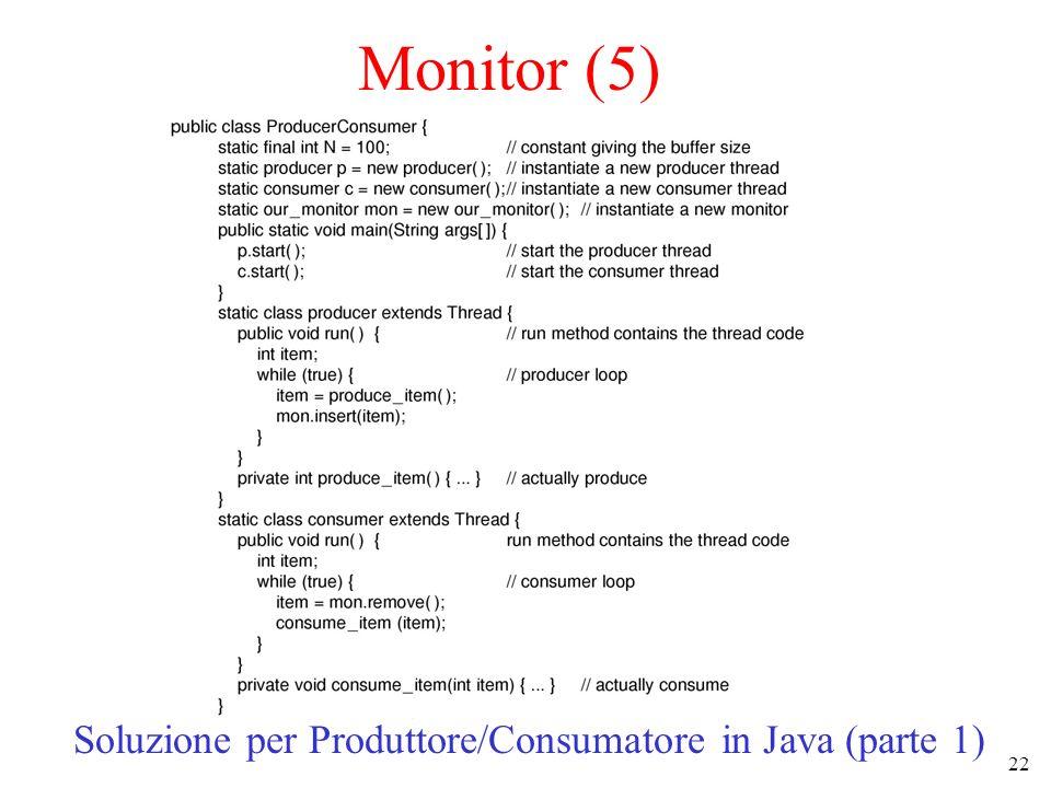 Soluzione per Produttore/Consumatore in Java (parte 1)