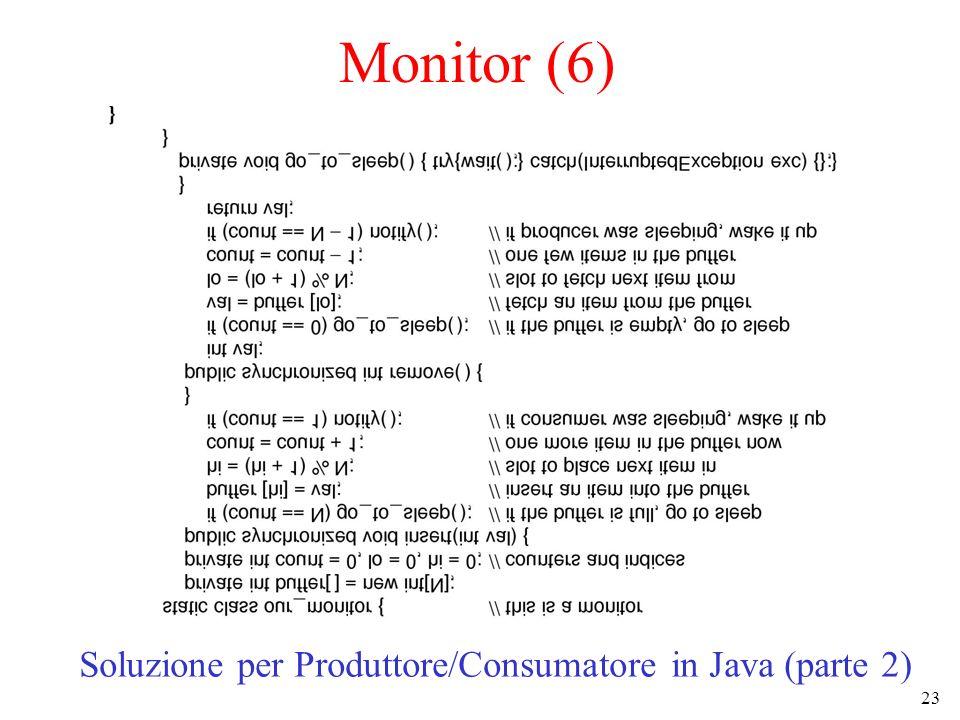 Soluzione per Produttore/Consumatore in Java (parte 2)