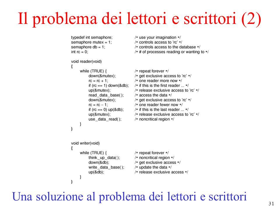 Il problema dei lettori e scrittori (2)