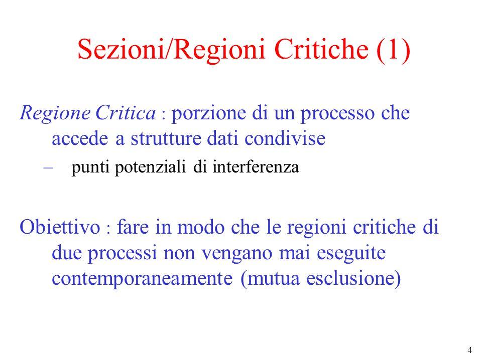 Sezioni/Regioni Critiche (1)