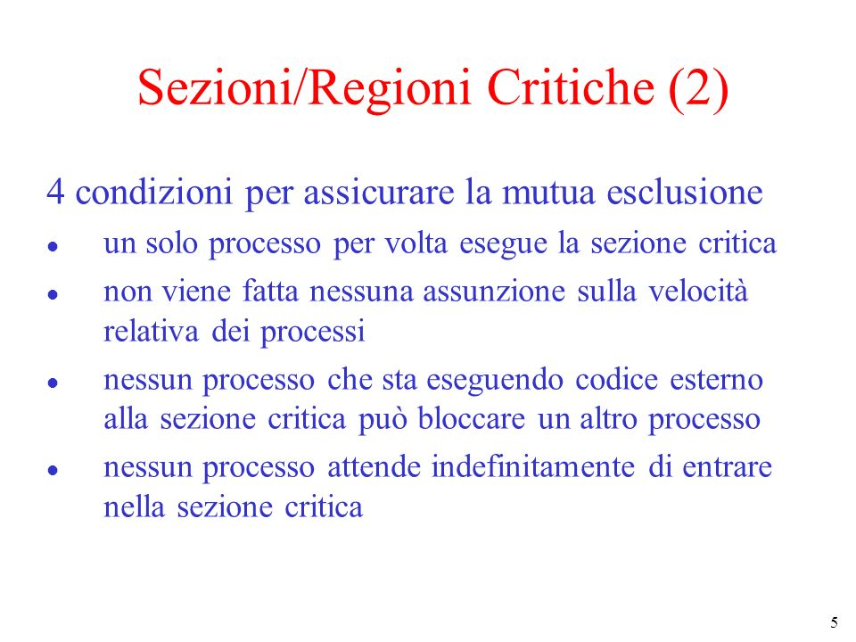 Sezioni/Regioni Critiche (2)
